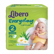 Libero Every day Подгузники Mini р-р 2 (3-6 кг) 24 шт
